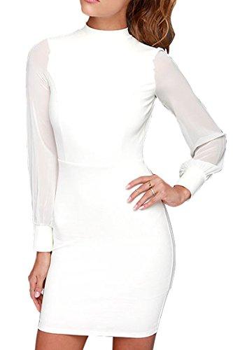 Women's Backless Mini Dress White - 4