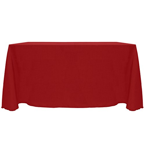 Ultimate Textile (3 Pack) Reversible Shantung Satin - Majestic 90 x 156-Inch Rectangular Tablecloth - for Weddings, Home Parties and Special Event use, Holiday Christmas Red by Ultimate Textile