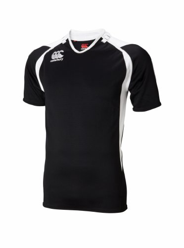 Canterbury Junior Challenge Jersey, Black/White, Large (Canterbury Womens Rugby)