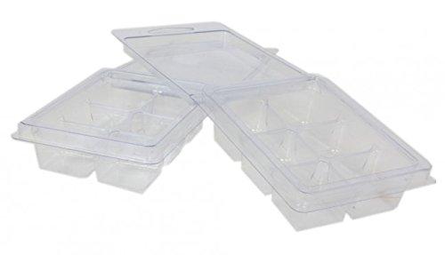 DGQ Wax Melt Molds - 100 Pack Clear Wax Molds Plastic Wax Melt Clamshells