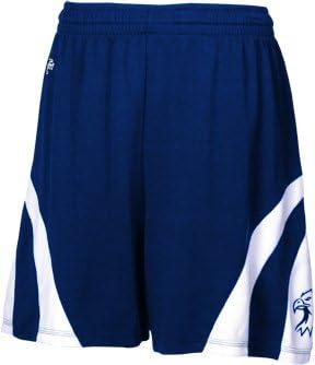 Intensity Weave Basketball Shorts, Navy/White, Medium