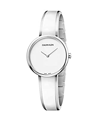Calvin Klein Womens Analogue Quartz Watch with Stainless Steel Strap 7612635119908