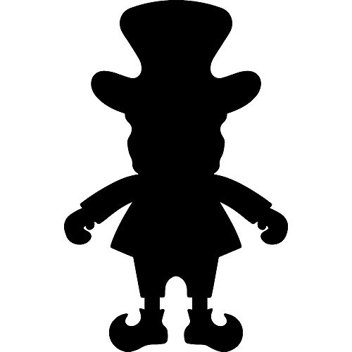ANGDEST Leprechaun Silhouette (Black) (Set of 2) Premium Waterproof Vinyl Decal Stickers for Laptop Phone Accessory Helmet Car Window Bumper Mug Tuber Cup Door Wall Decoration]()