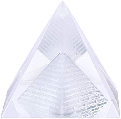 "3D Crystal Pyramid with Pharaoh Tut Head Unique Gift Idea 1/"" x 1/"" Beautiful NEW"