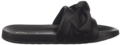 Women's TIED 2ND Skechers Black Slides TAKE UP C1Hw0xqB