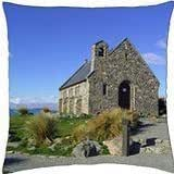 OLD STONE CHURCH - NZ - Throw Pillow Cover Case (18
