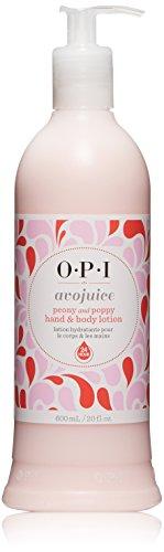 OPI Avojuice Hand Lotion, Peony & Poppy, 20 fl. oz. (Peony Cream Hand)