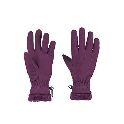 Marmot Women's Fuzzy Wuzzy Gloves Dark Purple Large