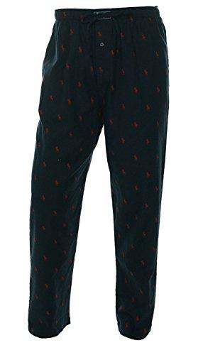 Multi Pony - Polo Ralph Lauren Men's Flannel Pajama Pants / Loungers (Medium, Navy / Red Multi-pony)