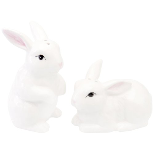 Bunny Salt & Pepper Shaker Set in Ceramic