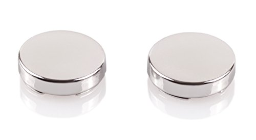 Classic Button Cufflinks - Silver Button Covers - The Only Cufflinks for Shirts with Buttons (CS-0 US)