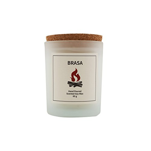 Vana Candles Classic Collection Brasa Scented 100% Soy Wax Candle in Glass Jar Swedish Design - 2.12 oz, Campfire Tobacco Wood