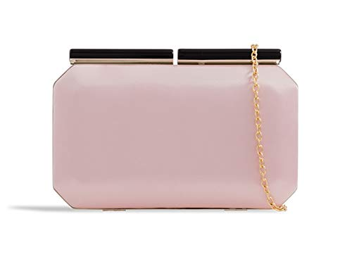 Wedding Clutches Bags Pink Party Hard Case Women's LeahWard Evening Satin g7qOHwR