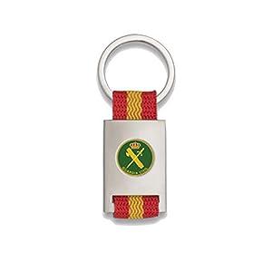 Tiendas LGP Albainox- Llavero Bandera DE ESPAÑA y Emblema Guardia Civil, Plateado 18