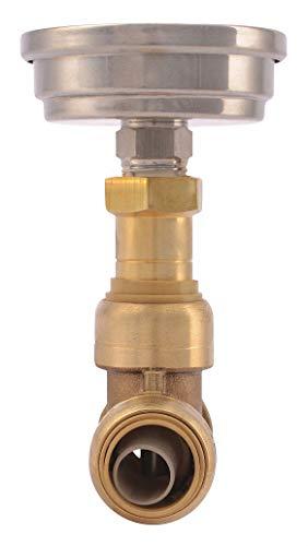 Sharkbite DZR Brass Temperature Gauge, 1/2
