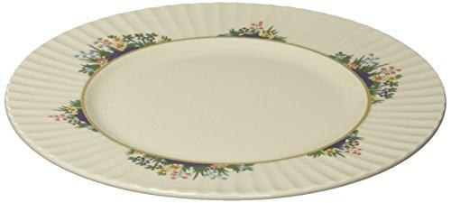 Lenox Rutledge Gold Banded Ivory China Salad - Ivory Banded Plate Salad China