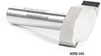 Tipped 1-1//2 Dia x 1//2 Cut Height x 1//2 Shank x 2-1//2 Inch Long Spoilboard CNC Router Bit PCD Amana Tool DRB-440 Polycrystalline Diamond