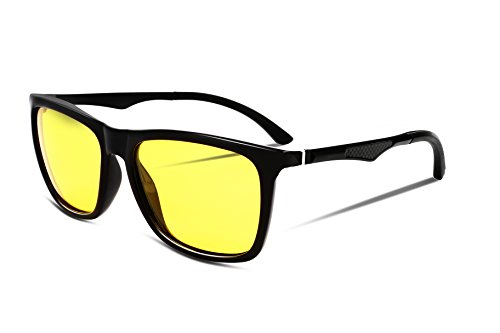 FEISEDY Night Vision HD Driving Glasses Mens Polarized Anti-Glare Eyewear B2293 1 Black