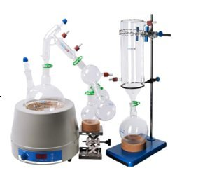 Labwang Laboratory Glassware Borosil Glass Short Path Distillation Kit with Cold Trap,2000ml