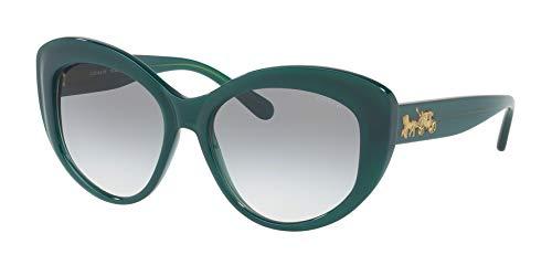 Coach Women's HC8206 Sunglasses Teal/Green Gradient 55mm (Sunglasses Blue Coach)