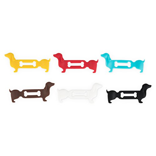 True 7655 Doggone Dachshund Glass Markers Wine Charms, One Size,