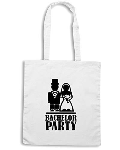 Speed Shirt Borsa Shopper Bianca MAT0005 BACHELOR PARTY BRIDAL COUPLE
