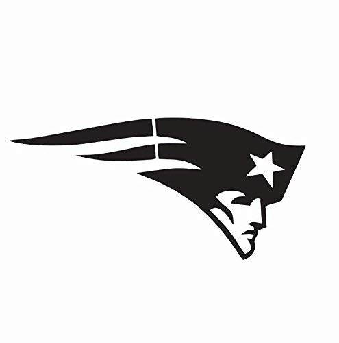 New England Patriots car Decal | 3 Size NFL Football Vinyl Die Cut Patch | New England Patriots Bumper Sticker (White Matte, 4 inch)