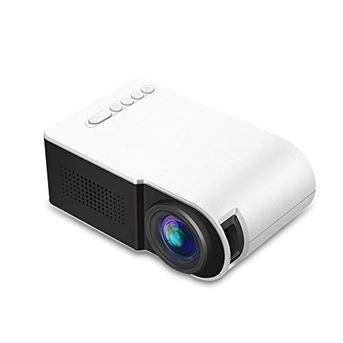 WOGQX Mini-Projektor, Tragbarer Heimvideoprojektor 30.000 Stunden Full HD 1080P, 60-Zoll-Display-Filmprojektor Für Den…