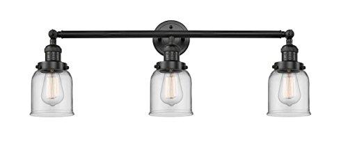 Innovations 205-BK-S-G52-LED 3 Light Vintage Dimmable LED Adjustable Bathroom Fixture, Matte Black from Innovations