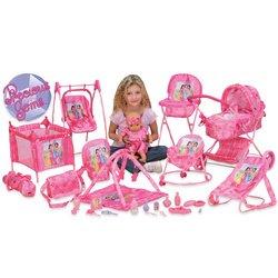Precious Gems 23 In 1 Deluxe Playset Doll Pram High Chair Swinging