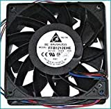FFB1212EHE-F00 120 x 120 x 38mm Cooling Fan, 190 CFM, 4000 RPM, 59 dBA, 17.78 air pre., 4-pin molex + 3 pin Tach connector. Combo Set of 3 Fans!! Ship from USA !!