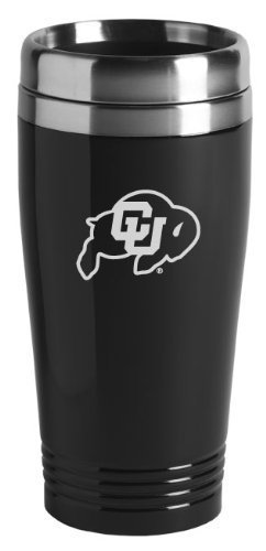 University of Colorado Boulder - 16-ounce Travel Mug Tumbler - Black
