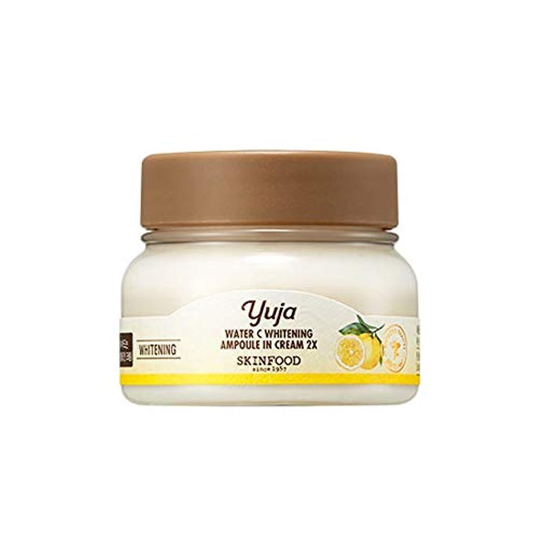 再生可能学ぶ二層Skinfood Yuja Water Cホワイトニングアンプル2X / Yaja Water C Whitening Ampoule In Cream 2X 70ml [並行輸入品]