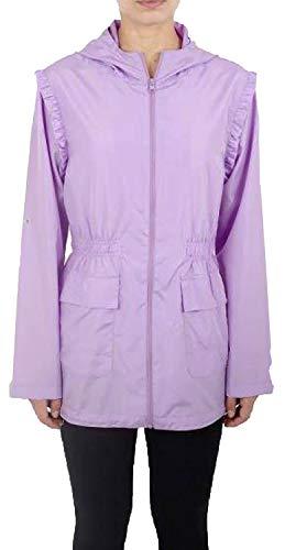 Mac Lilac 36 Frill Parka Nouveau Léger Plus Zip Pluie Fishtail Showerproof Taille Plaine Poids Vestes 52 Femmes nwUqUpZY