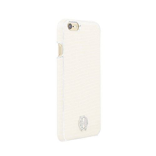 iPhone 6s Case, House of Harlow 1960 White Lizard, Silver Metallic Designer Cover fits iPhone 6, iPhone 6s - White/Silver (Lizard Print Metallic)