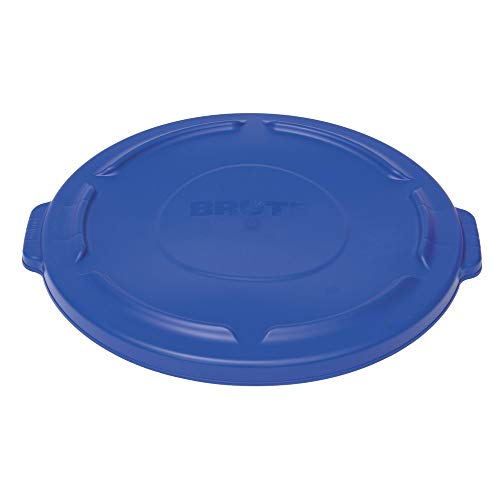 Rubbermaid Brute Blue Plastic Flat Trash Receptacle Lid - 22