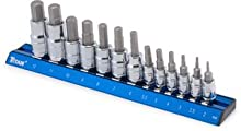 Titan 16124 Metric Hex Bit Socket Set, 13-Piece
