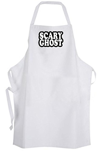 Scary Ghost - Adult Size Apron - Halloween Cute Funny Humor Costume (Bbq Costume Humor Apron)