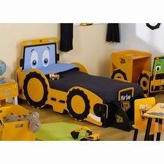 Kinderbett baggerbett  Amazon.de: KIDSAW-MY 1ST JCB BAGGER-MOTIV, KINDERBETT mit MATRATZE ...