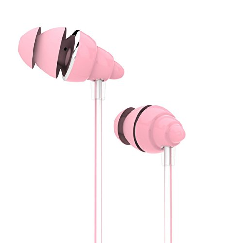UiiSii F108 Pink Headphones with Microphone & Volume Control In-ear Earphones Conch Design Stereo Headphones