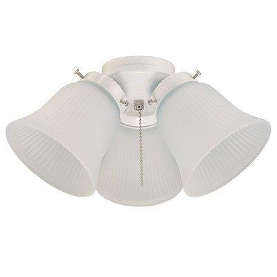 Westinghouse 7781400 3-Light White Cluster Light (Fan Light Cluster)