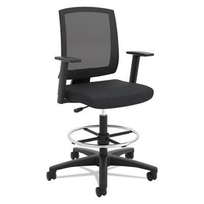 Hon Torch Mesh Task Stool - Mid Back Chair for Table or Desk, Black (HVL515)