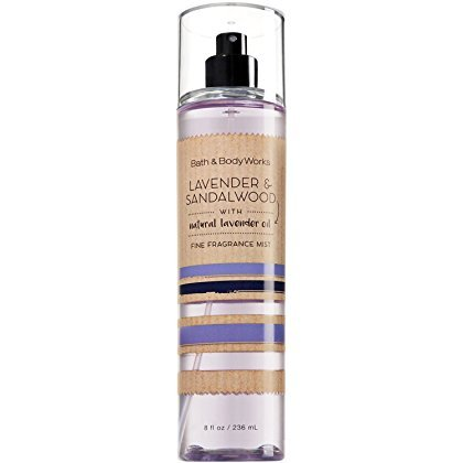 Bath and Body Works Lavender Sandalwood Fine Fragrance Mist 8 Ounce Full Size