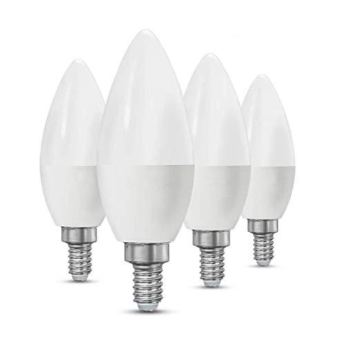 CTKcom LED Candelabra Light Bulbs E14 7W, Equivalent 60 Watt Light Bulbs,Candelabra Led E14 Instermediate Base,430 Lumens LED Not Dimmable (Warm White 2700K) 4 Pack