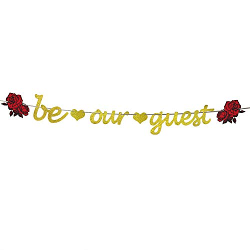 Be Our Guest Banner Reception Banner Bachelorette Engagement Bridal Shower Baby Shower Birthday Party Favor Supplies -