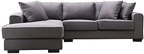 ソファーベッド ソファー 4人掛け カウチ おしゃれ 北欧 ファブリック 弾力 高級 ダークグレー,ダークグレー