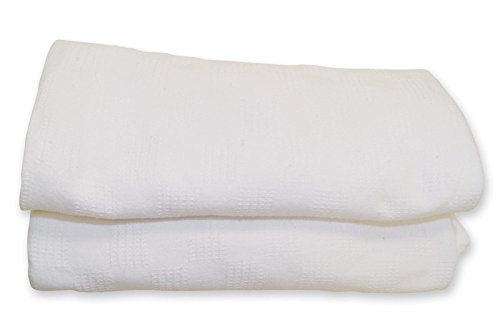 OOHHOO White Thermal Hospital Blanket Twin Size 66X90 100% Cotton