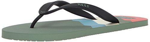 Rev Menns Switchfoot Utskrifter Sandal S Grønne Linjer