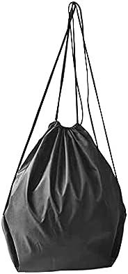 1pc Black Oxford Cloth Drawstring Football Volleyball Storage Bag Portable Outdoor Sports Basketball Soccer Ca