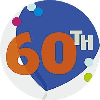60th The Big Day Wall Decoration (Balloons) - Each   B001EAAIOS